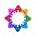 47791517-Teamwork-workers-and-employees-in-a-meeting-logo-vector-image-Stock-Vector
