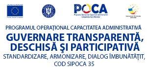 Guvernare transparentă, deschisă și participativă – standardizare, armonizare, dialog îmbunătățit